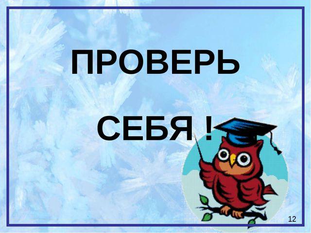 ПРОВЕРЬ СЕБЯ ! 12