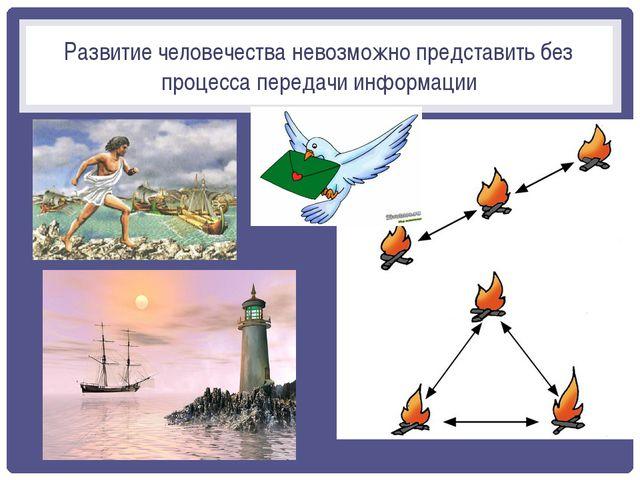 Развитие человечества невозможно представить без процесса передачи информации