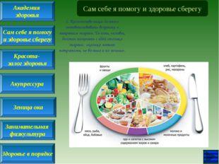 Сам себе я помогу и здоровье сберегу 1. Количество пищи должно соответствоват
