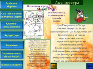Акупрессура Академия здоровья Сам себе я помогу и здоровье сберегу Красота- з