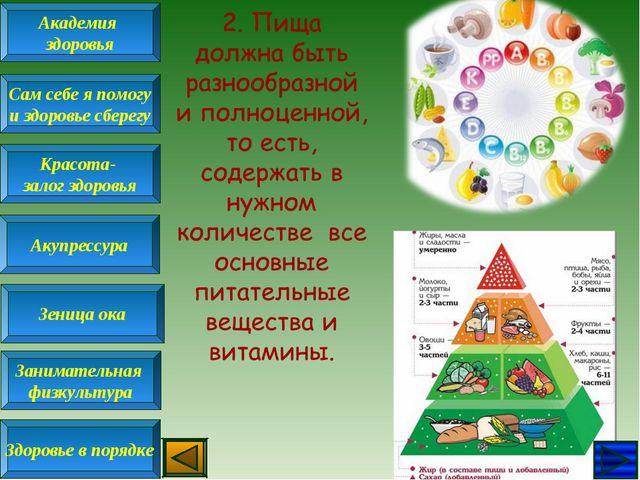 Академия здоровья Сам себе я помогу и здоровье сберегу Красота- залог здоровь...