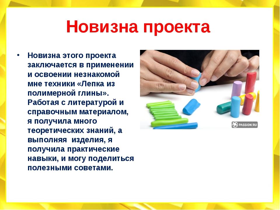 Новизна проекта Новизна этого проекта заключается в применении и освоении нез...