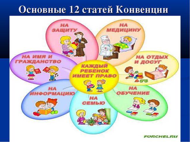 Основные 12 статей Конвенции