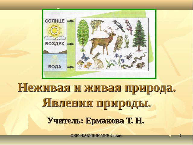 Неживая и живая природа. Явления природы. Учитель: Ермакова Т. Н. * ОКРУЖАЮЩИ...