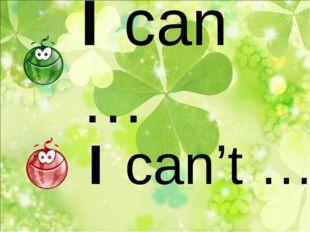 I can … I can't …