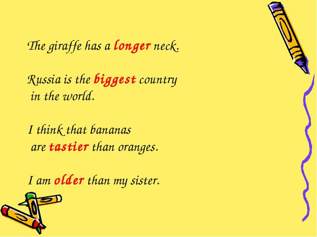 The giraffe has a longer neck. Russia is the biggest country in the world. I...