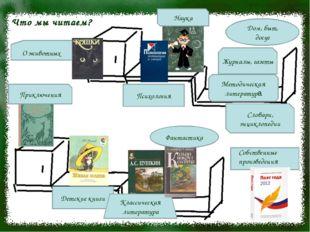 Что мы читаем? Детские книги Классическая литература Фантастика Словари, энци
