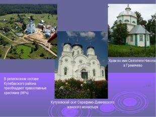 Кутузовский скит Серафимо-Дивеевского женского монастыря Храм во имя Святител