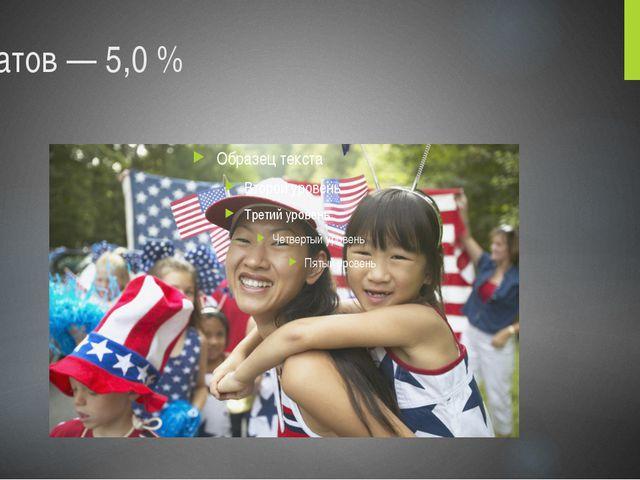 азиатов— 5,0%