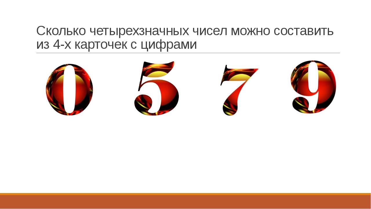Сколько четырехзначных чисел можно составить из 4-х карточек с цифрами