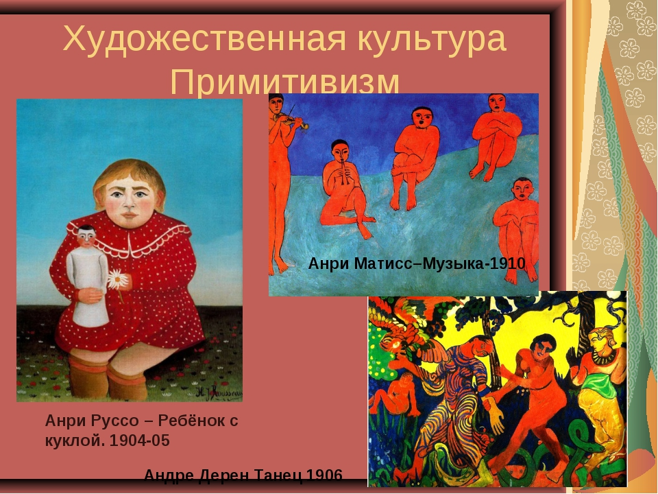 Художественная культура Примитивизм Анри Матисс–Музыка-1910 Андре Дерен Танец...