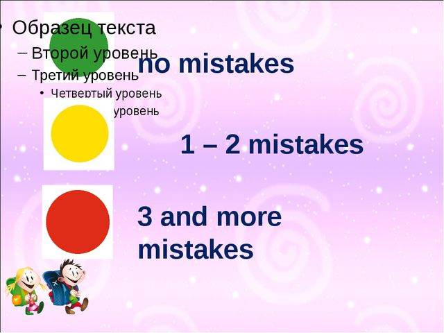 1 – 2 mistakes no mistakes 3 and more mistakes