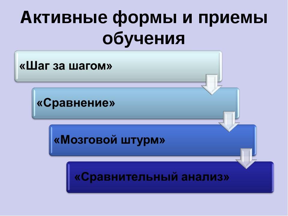 Активные формы и приемы обучения