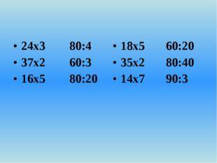 24х3 80:4 37х2 60:3 16х5 80:20 18х5 60:20 35х2 80:40 14х7 90:3
