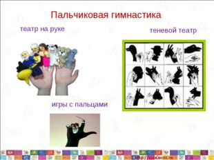 Пальчиковая гимнастика театр на руке теневой театр игры с пальцами