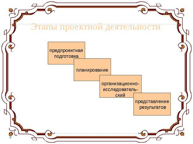 предпроектная подготовка планирование организационно- исследователь- ский пре...
