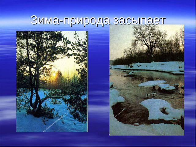 Зима-природа засыпает