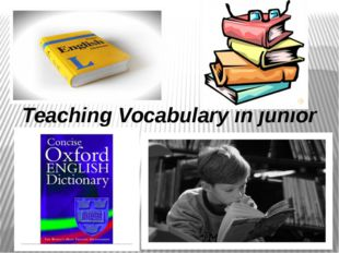 Teaching Vocabulary in junior form