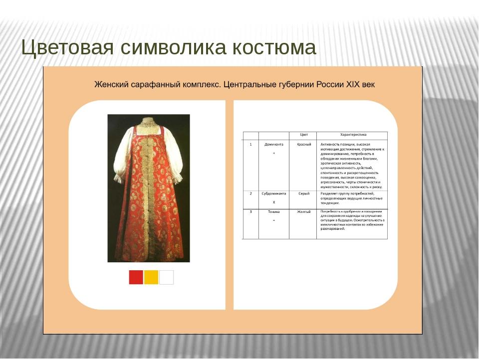 Цветовая символика костюма