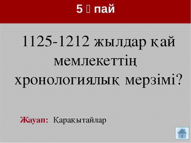 10 ұпай Жауап: Күлтегін жазуы «Қарлұқтардың Шығыс Түрік қағанатының құрамында...