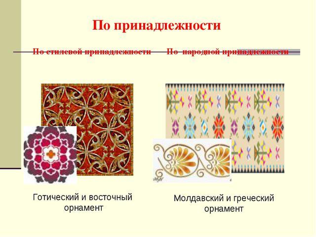 По народной принадлежности По принадлежности По стилевой принадлежности Молда...