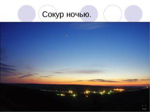 Сокур ночью.