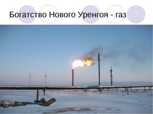 Богатство Нового Уренгоя - газ