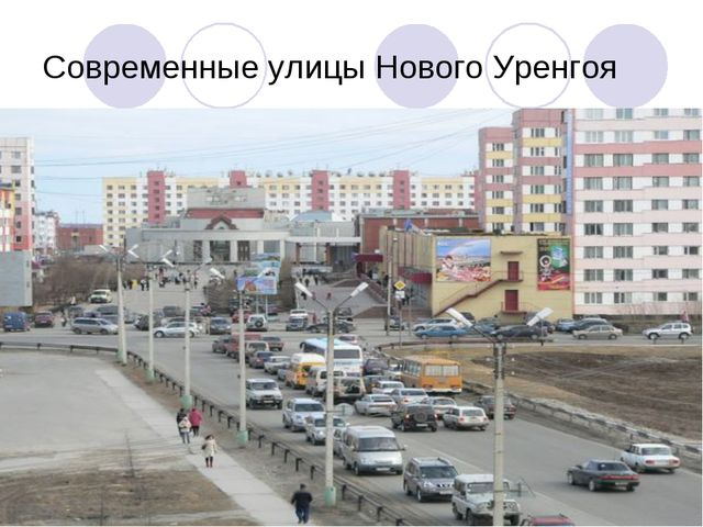 Современные улицы Нового Уренгоя