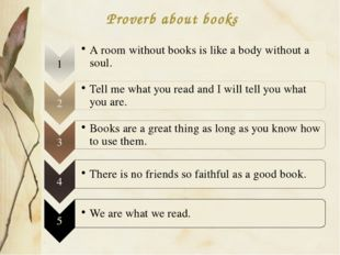 Proverb about books