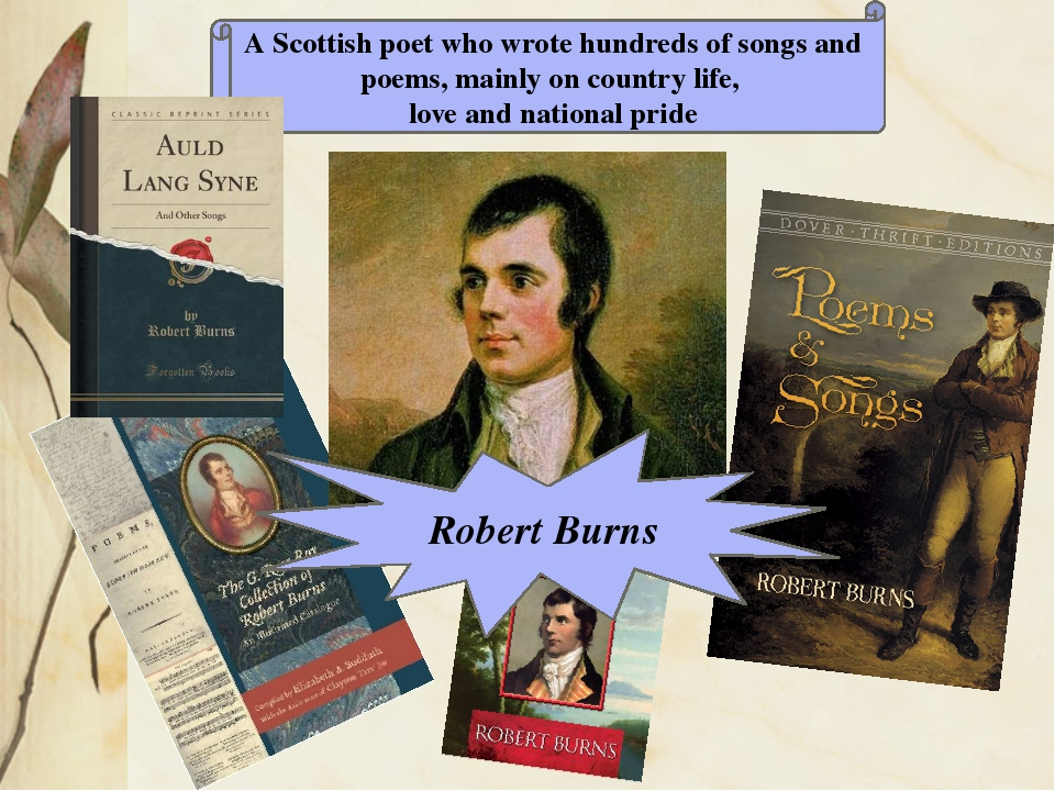 A Scottish poet who wrote hundreds of songs and poems, mainly on country life...