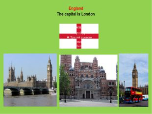 England The capital Is London