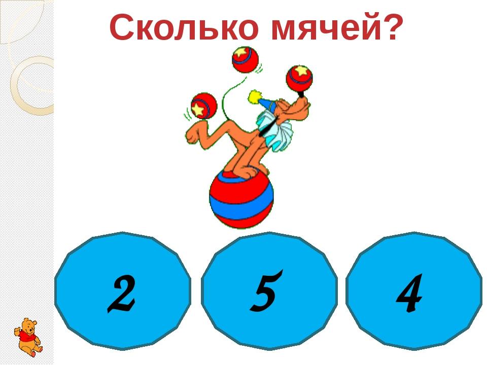 Сколько мячей? 2 5 4