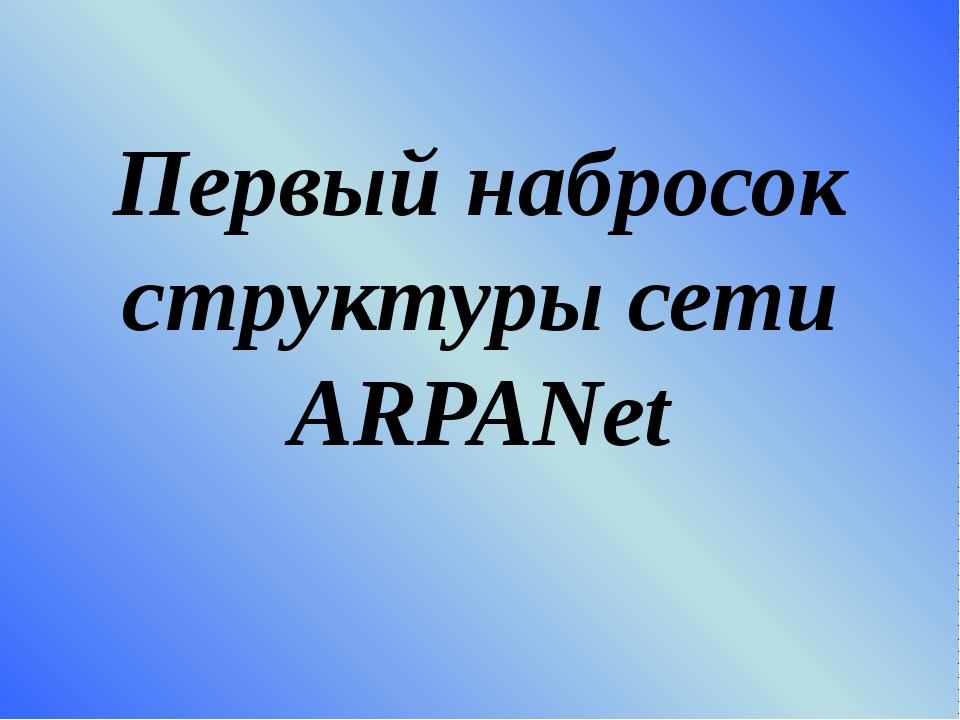 Первый набросок структуры сети ARPANet