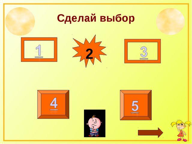 Сделай выбор 2 *