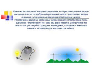 Ранее мы рассматривали электрические явления, в которых электрические заряды