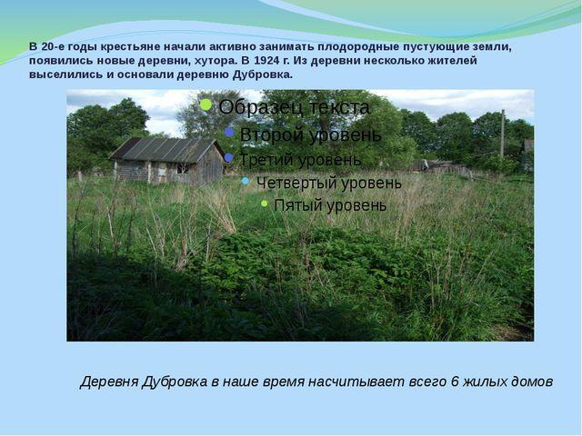 В 20-е годы крестьяне начали активно занимать плодородные пустующие земли, по...