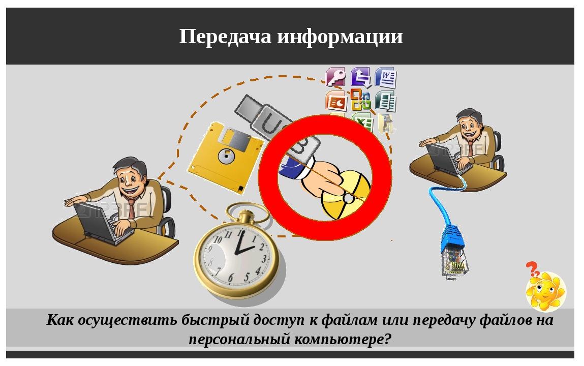 Передача информации Как осуществить быстрый доступ к файлам или передачу фай...