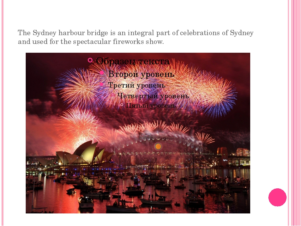 The Sydney harbour bridge is an integral part of celebrations of Sydney and u...