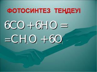 6CO2 + 6H2O = =C6H12O6 + 6O2