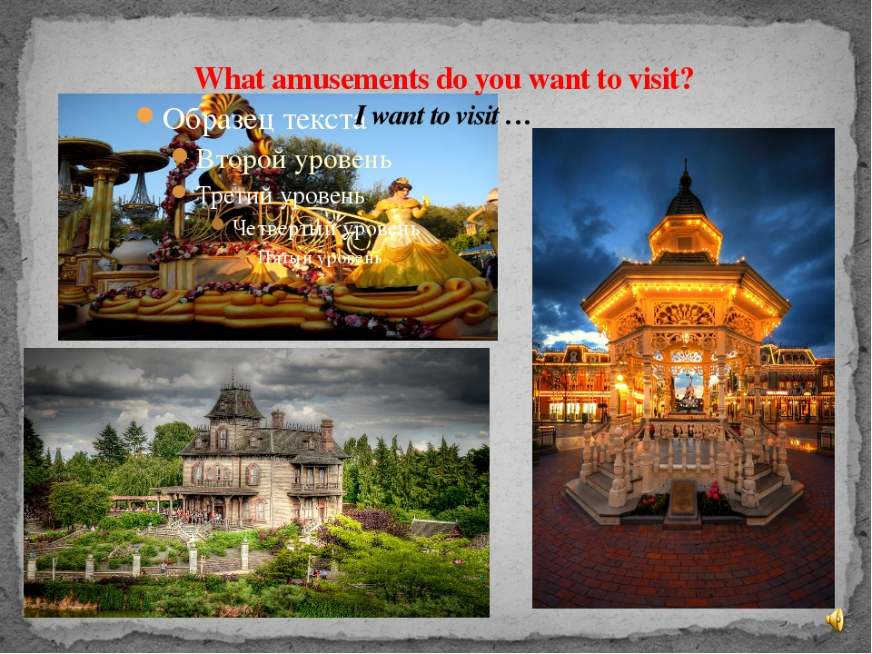What amusements do you want to visit? I want to visit …