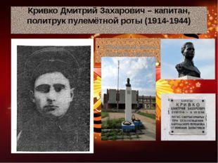 Кривко Дмитрий Захарович – капитан, политрук пулемётной роты (1914-1944) Памя