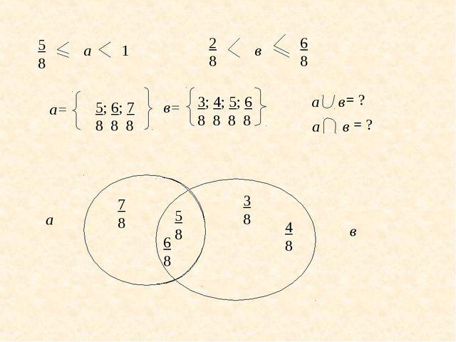 5 8 а 1 2 8 в 6 8 а в а= 5; 6; 7 8 8 8 в= 3; 4; 5; 6 8 8 8 8 5 8 6 8 4 8 7 8...