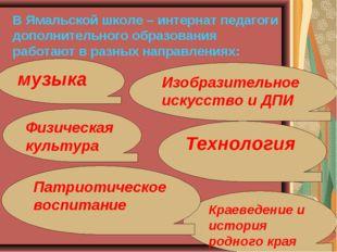 В Ямальской школе – интернат педагоги дополнительного образования работают в