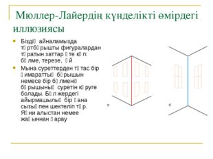 Мюллер-Лайердің күнделікті өмірдегі иллюзиясы Біздің айналамызда төртбұрышты