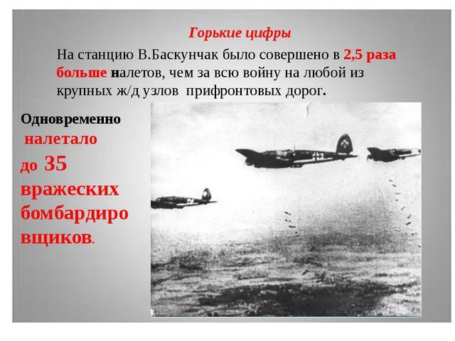 На станцию В.Баскунчак было совершено в 2,5 раза больше налетов, чем за всю в...