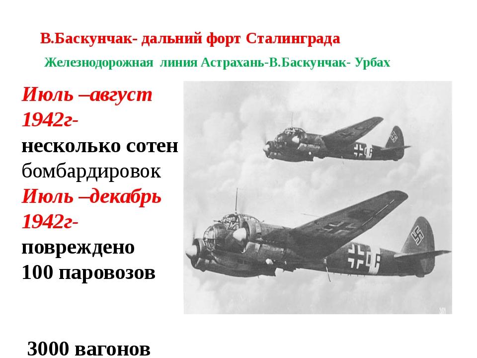В.Баскунчак- дальний форт Сталинграда Железнодорожная линия Астрахань-В.Баску...
