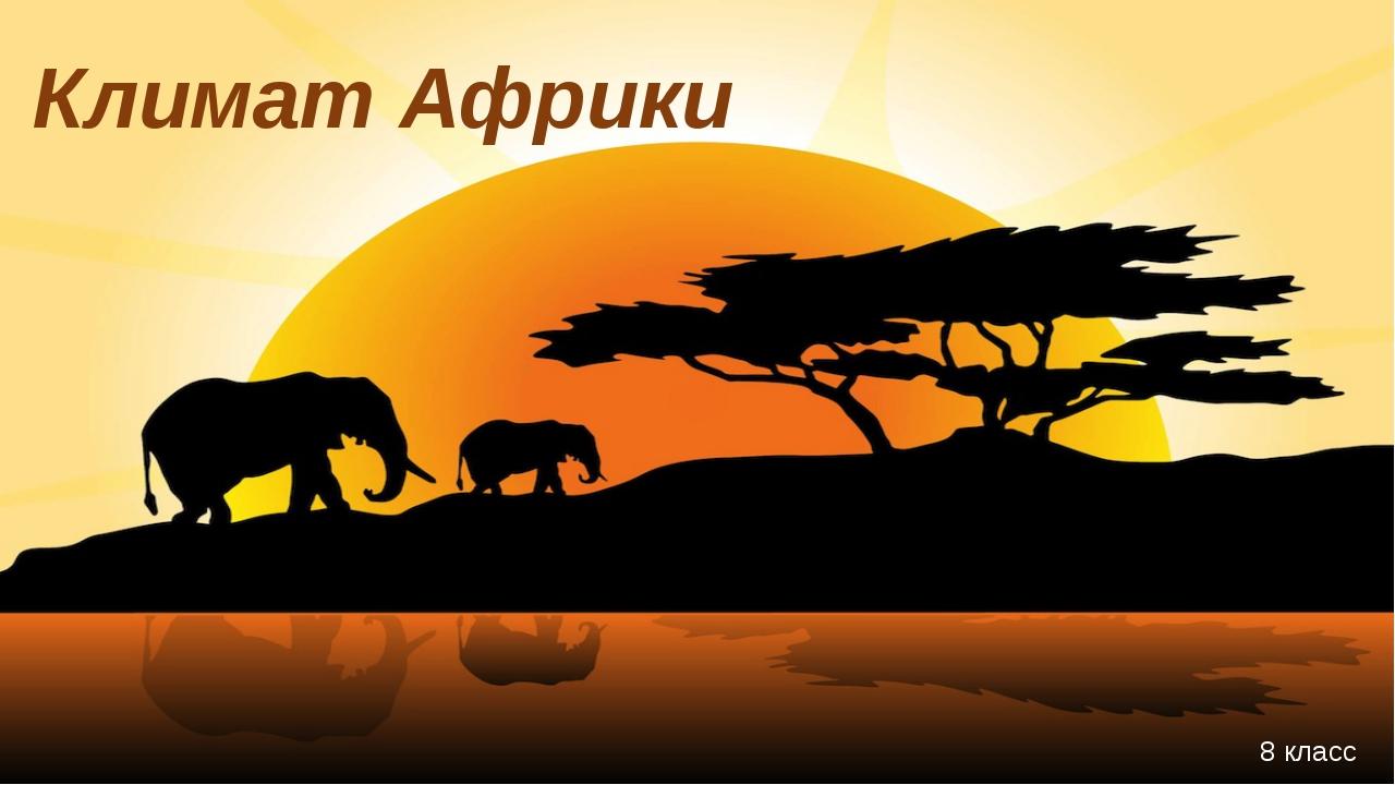 Климат Африки 8 класс