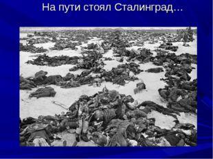 На пути стоял Сталинград…