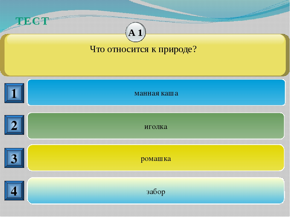 ТЕСТ комета муравей вода гвоздь 1 2 3 4 Что относится к веществам? А6