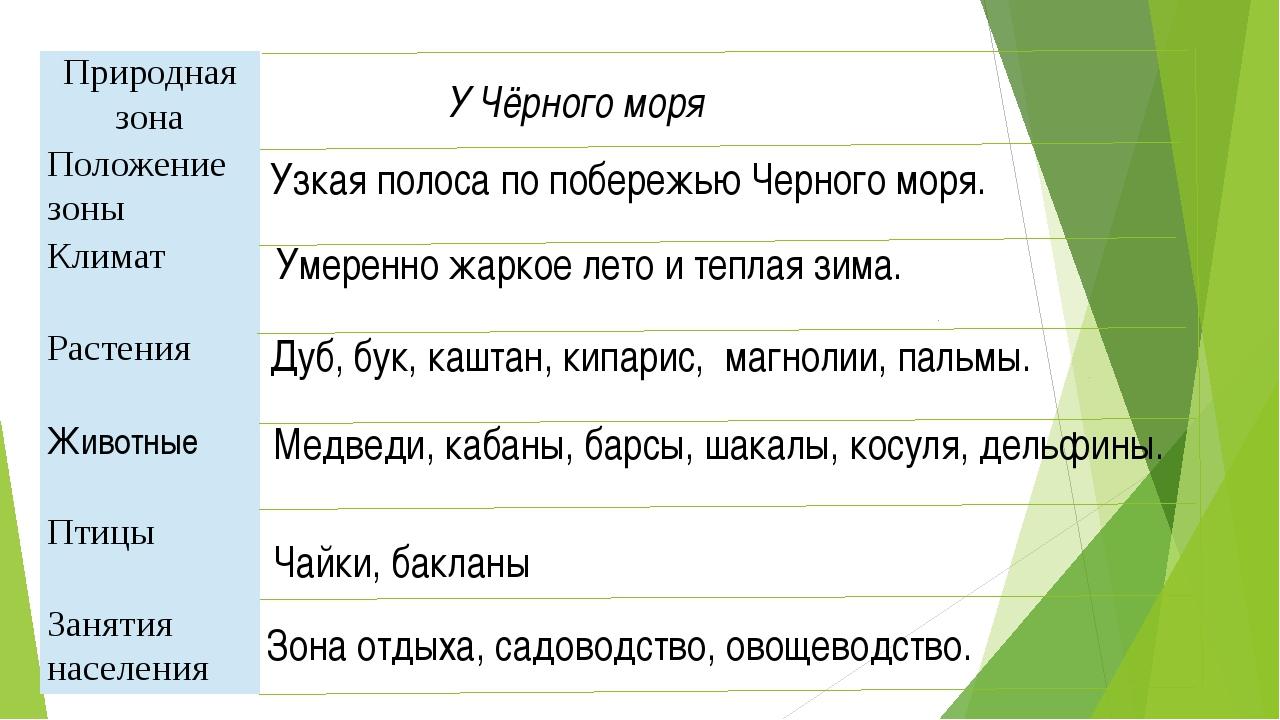 У Чёрного моря Узкая полоса по побережью Черного моря. Умеренно жаркое лето и...